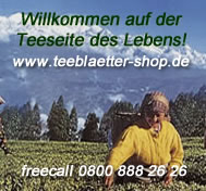 Tee-Banner Teeblaetter-Versand