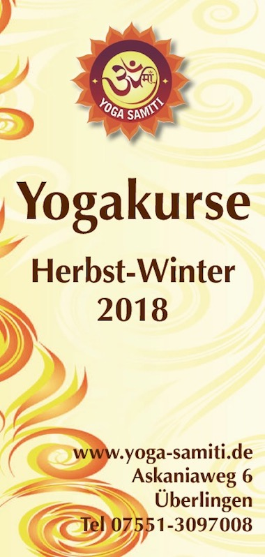 Yoga Samiti Kurse Herbst Winter 2018