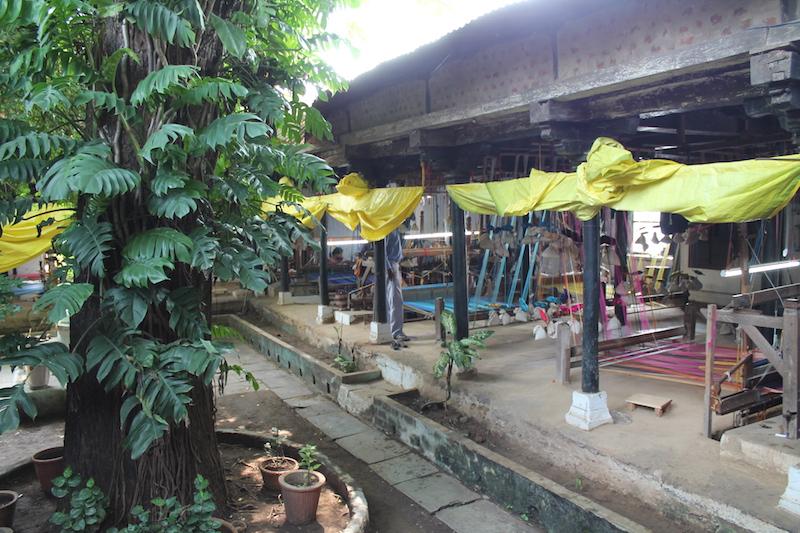 Seidenweberei in Maheshwar